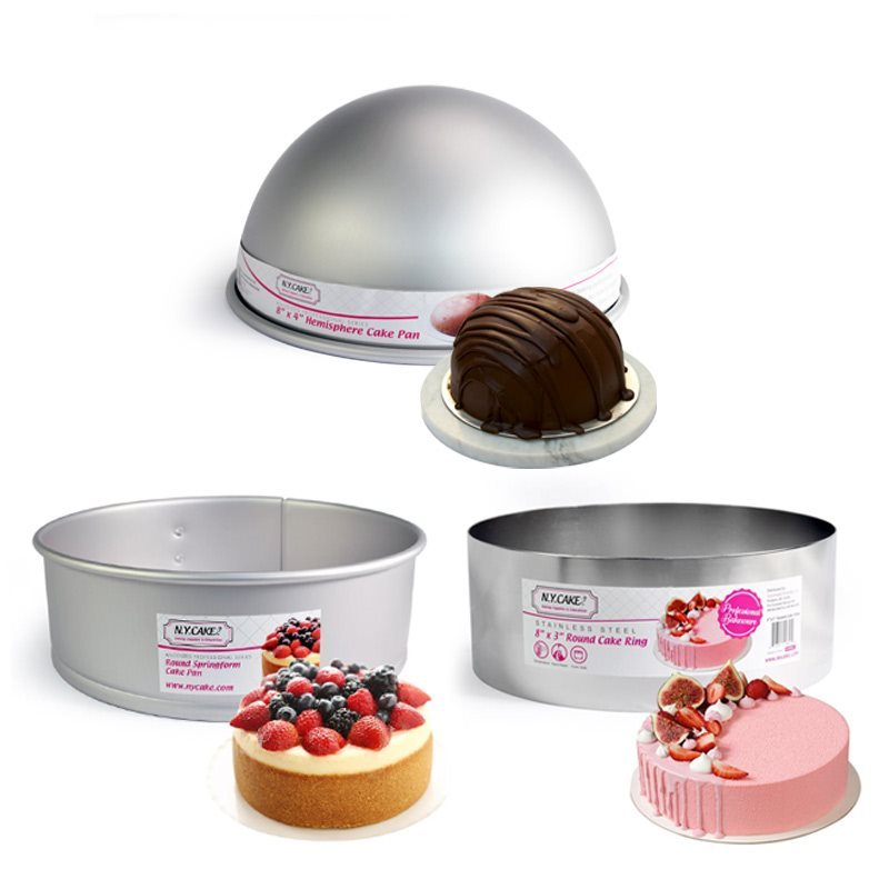 Cake Rings, Mousse Molds, Cheesecake, Tarts, Pies, Cupcake Pans, Cooling Racks