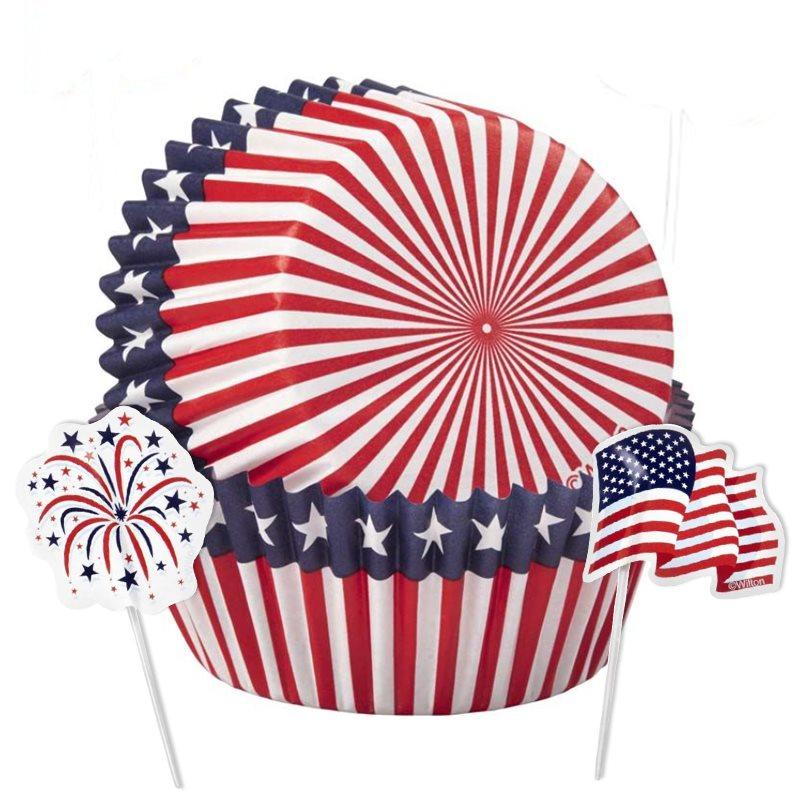 Patriotic Cupcake Supplies