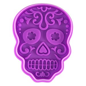 "Day Of The Dead Sugar Skull Stamper 3"""
