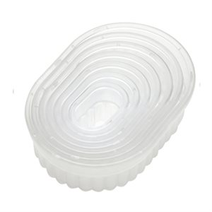 Fluted Oval Cookie and Pastry Cutter