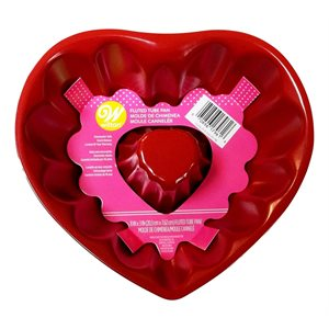 Red Heart 8 Inch Fluted Tube Pan