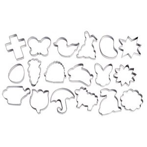 Easter Metal Cutters 18 pcs By Wilton