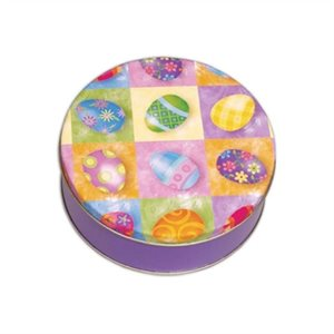 Easter Egg Cookie Tin 6 Inch