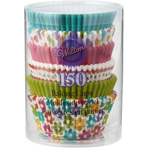 Spring Medley Standard Baking Cups- 150 ct By Wilton