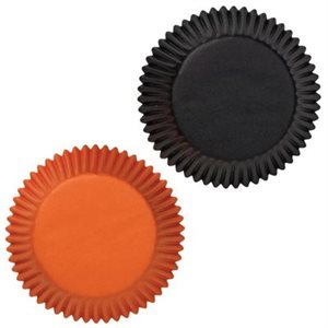 Black & Orange Standard Baking Cups Combo-75 CT By Wilton