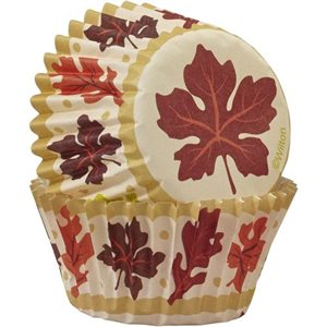 Fall Leaves Mini Baking Cups-100 CT By Wilton