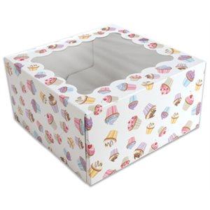 Cupcake Design Cupcake Box Holds 4 Standard Cupcakes