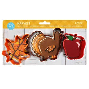 Harvest Color Cookie Cutter Set 3pc (Carded)