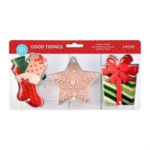 Good Tidings Cookie Cutter Set 3pc