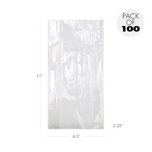 Cellophane Bags  4 1 / 2 X 2 1 / 4  X 11 Inch Heavyweight Pack of 100