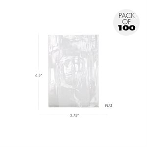 Cellophane Bags 3 3 / 4 X 6 1 / 2 Inch Flat Pack of 100