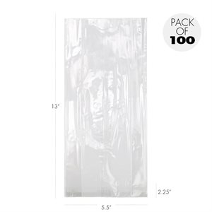 Cellophane Bags 5 1 / 2 X 2 1 / 4  X 13 Inch Heavyweight Pack of 100