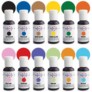 Airbrush Color Kit 12 ct By Americolor
