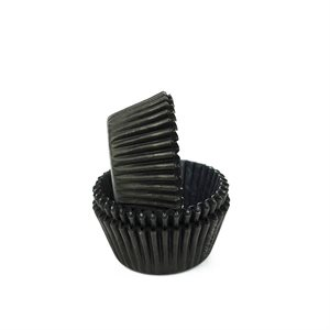 Black Mini Cupcake Baking Cup Liner