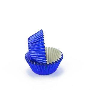 Blue Foil Mini Cupcake Baking Cup Liner