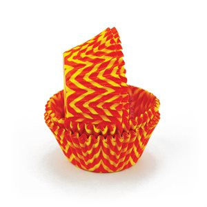 Chevron Orange & Yellow Standard Cupcake Baking Cup Liner