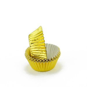 Gold Foil Mini Cupcake Baking Cup Liner