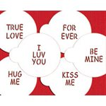 Large Candy Heart Sayings Cookie Stencil By Designer Stencils