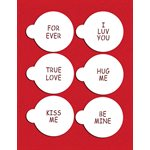 Small Candy Heart Sayings Cookie Stencil By Designer Stencils