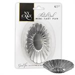 Mini Fluted Oval Tart Pan Set of 4