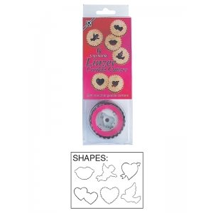 Valentine Linzer Cookie Cutter Set 6 Pcs.