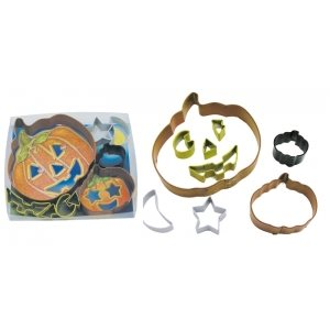 Jack O Lantern Cookie Cutter Set Poly Resin 9 Pcs.