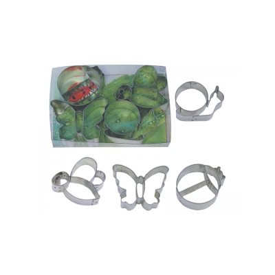 Garden Friends Cookie Cutter Set Poly Resin 4 Pcs.