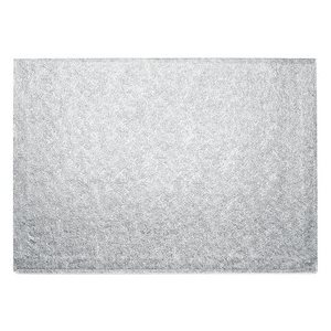 10 X 14 Inch Rectangle Silver Cake Board 1 / 2 Inch Thick