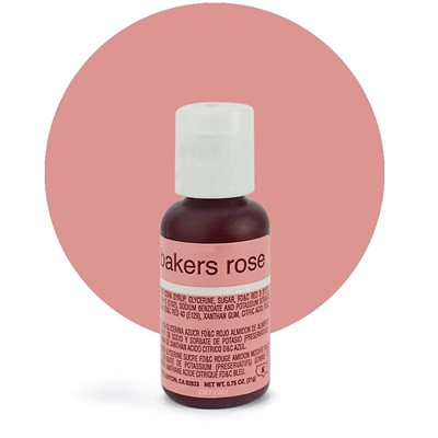Bakers Rose Liqua-Gel Color - .70 ounce By Chefmaster