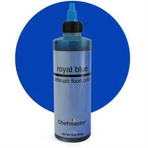 Royal Blue Airbrush Color 9 Ounce By Chefmaster
