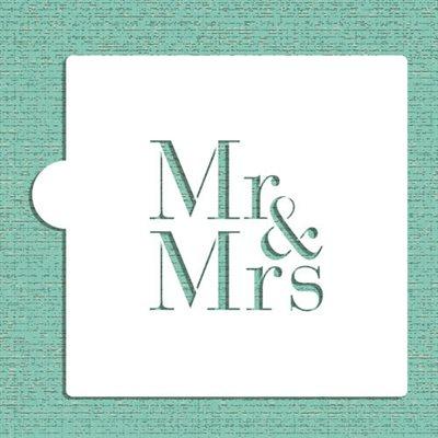 Mr & Mrs Cookie Stencil