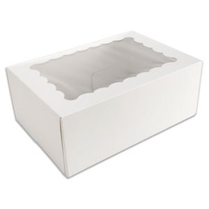 White Cupcake Box Holds 6 Standard Cupcakes