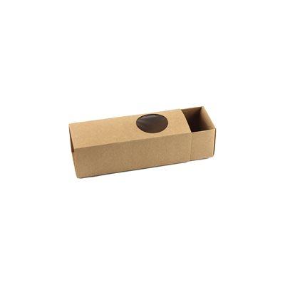 Natural Brown Macaron Box Holds 6