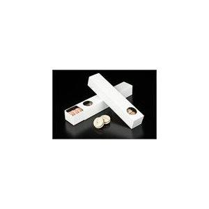 White Macaron Box Holds 12