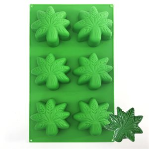 Marijuana Cannabis Leaf Silicone Baking Mold BY NY CAKE