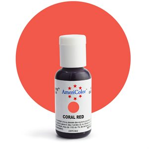 Coral Red Gel Paste - .75 ounce By Americolor