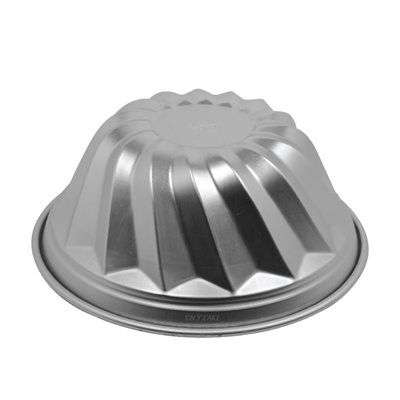 Aluminum Swirl Cake Pan 8 Inches x 4 Inches Deep