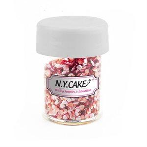 Pink Hearts Edible Glitter  4.5 grams