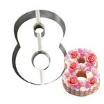 """Stainless Steel Number Mold """"8""""- 8 1 / 2"""" x 5 1 / 2"""" x 2"""" Deep"""