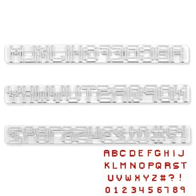 Pixel Alphabet Cutter Set By FMM