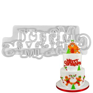 Merry Christmas Curved Words Cutter Set By FMM