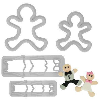 Gingerbread People Cutter Set By FMM