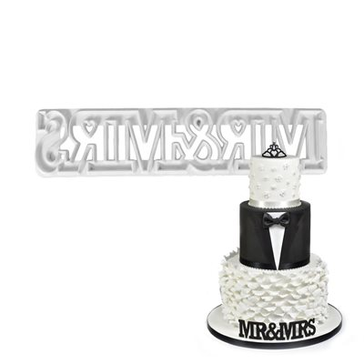 Mr & Mrs Curved Words Cutter Set By FMM