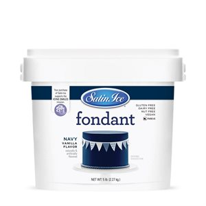 Satin Ice Rolled Fondant Icing Navy 5 Pounds