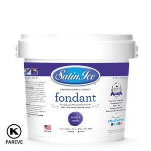 Satin Ice Rolled Fondant Icing Purple 5 Pounds