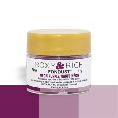 Neon Purple Fondust Food Coloring By Roxy Rich 4 gram