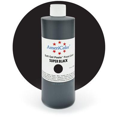 Super Black Gel Paste 13.5  ounces By Americolor