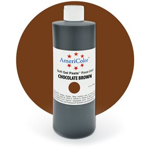 Chocolate Brown Gel Paste 13.5  ounces By Americolor