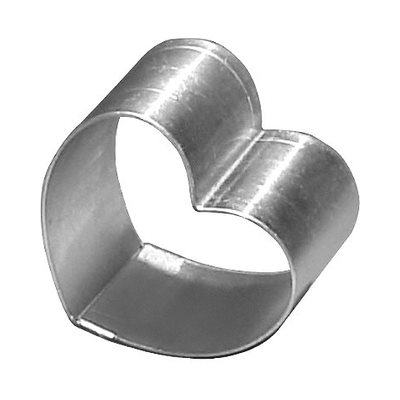 Heart Cake Ring Stainless Steel 6 x 3 Inch