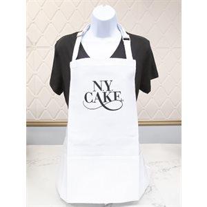 White Apron with NY Cake Emb. Logo